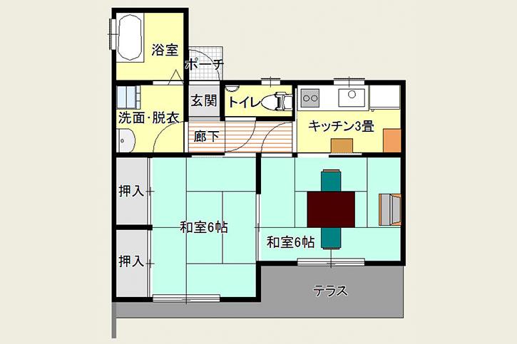 体験住宅間取り(すみれ・さくら共通)
